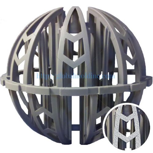 spherical plastic random dump tower packing biomedia