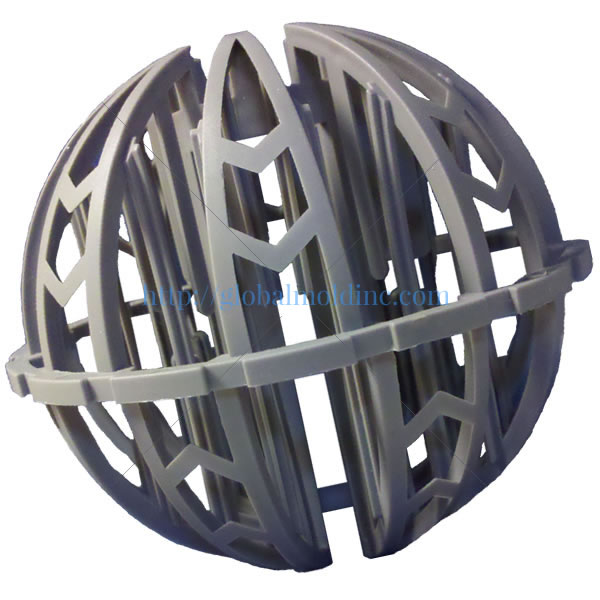 spherical random dump plastic tower packing biomedia